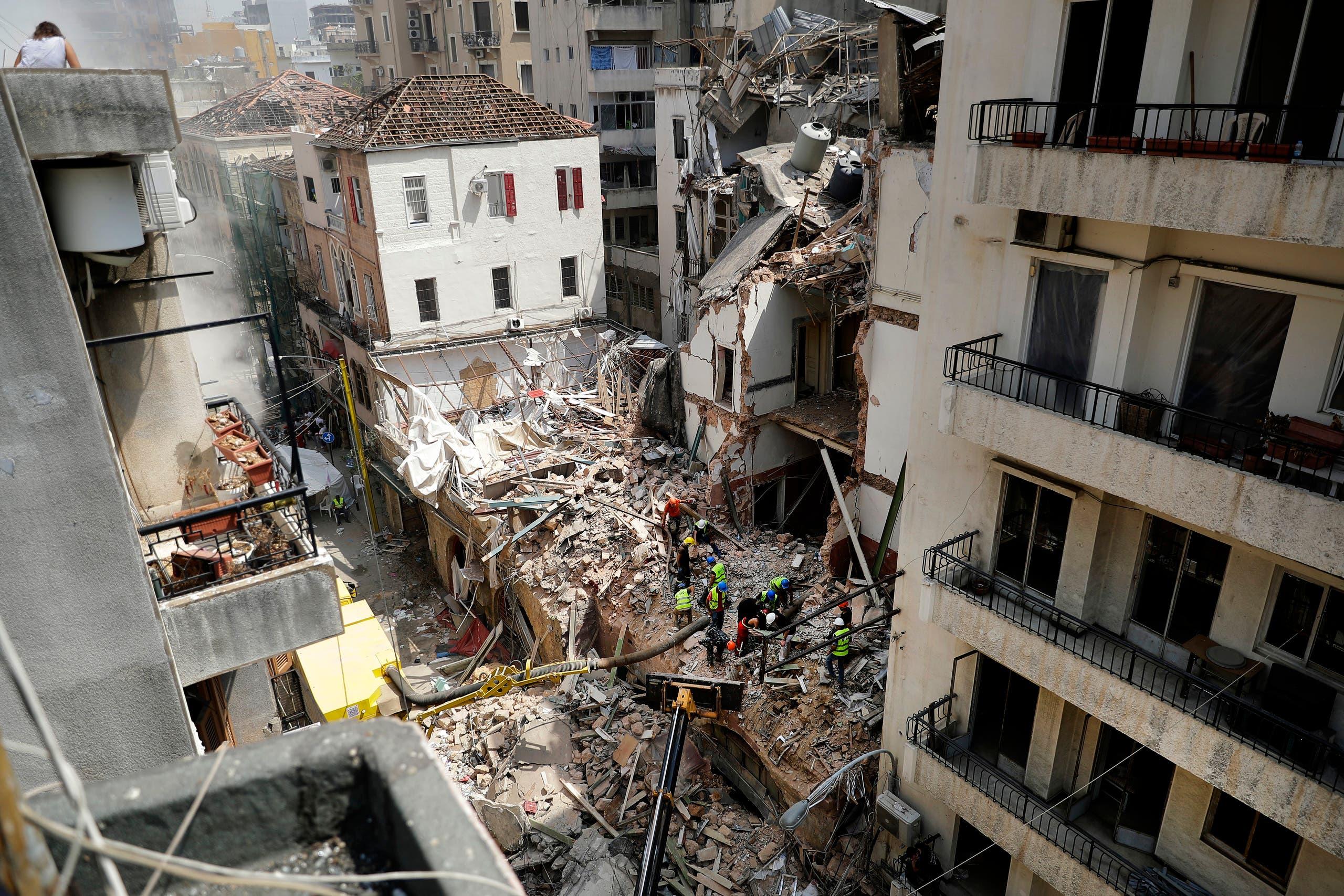 من منطقة مار مخايل في بيروت (أرشيفية- فرانس برس)