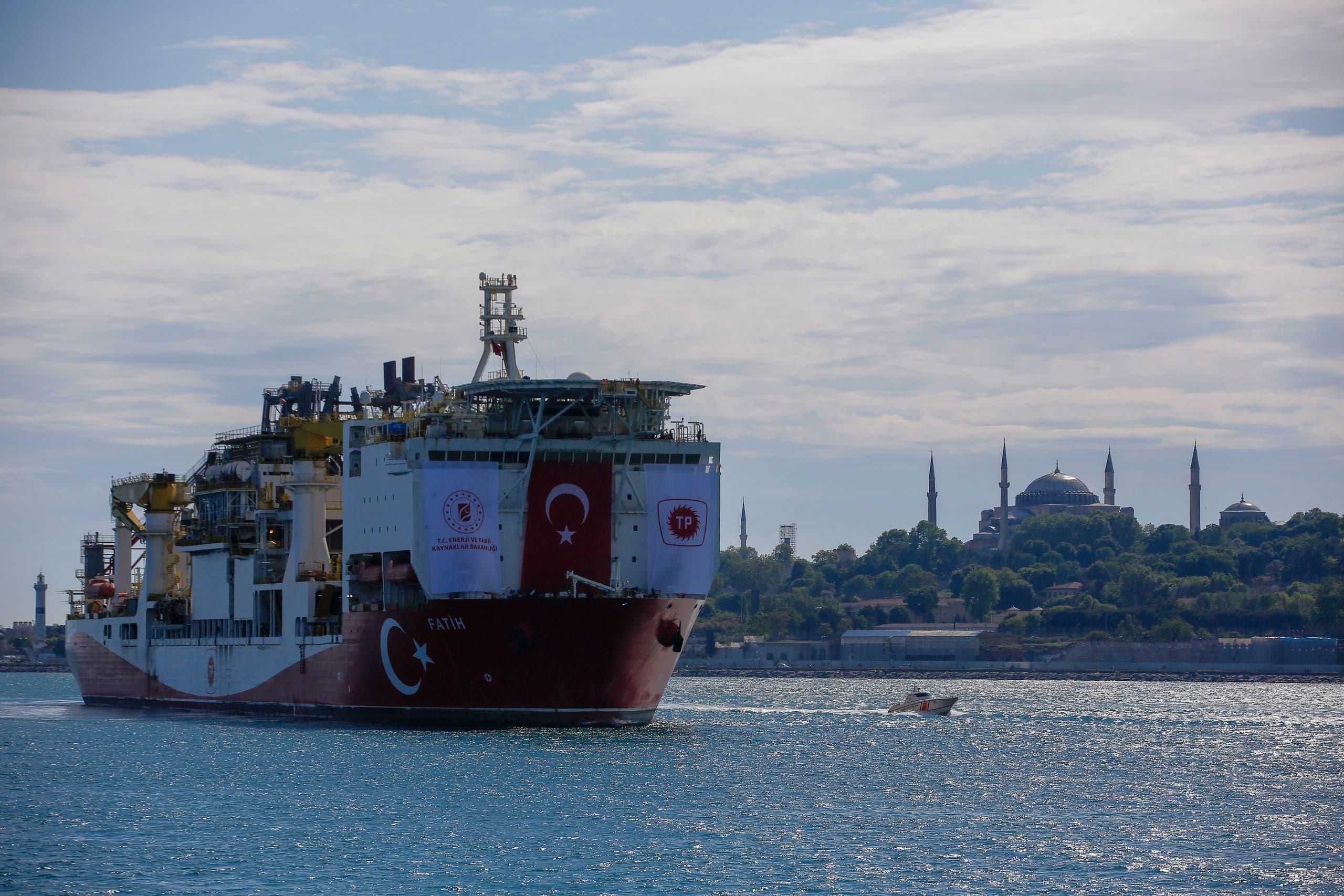 سفينة تركية شرق المتوسط (أسوشييتد برس)