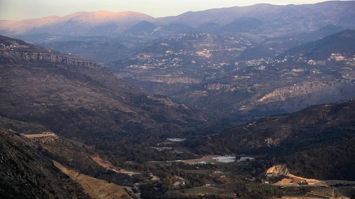 A photograph taken on November 22, 2019, shows a partial view of the Bisri Valley, southwest of the Lebanese capital Beirut. (AFP)