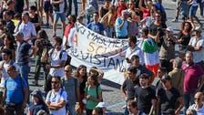 Coronavirus: Anti-face mask protesters demonstrate in Rome