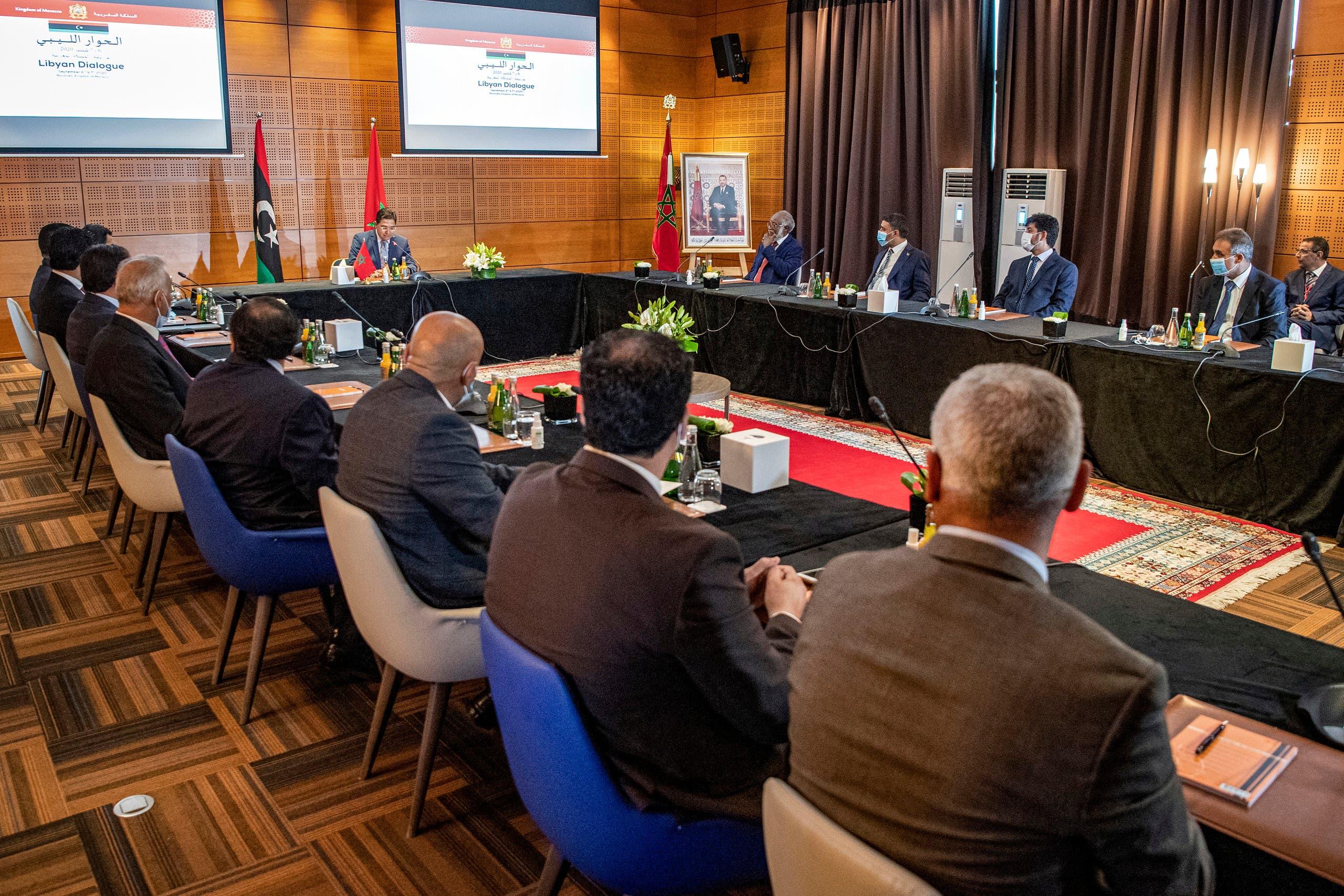 من الحوار الليبي في المغرب الشهر الماضي