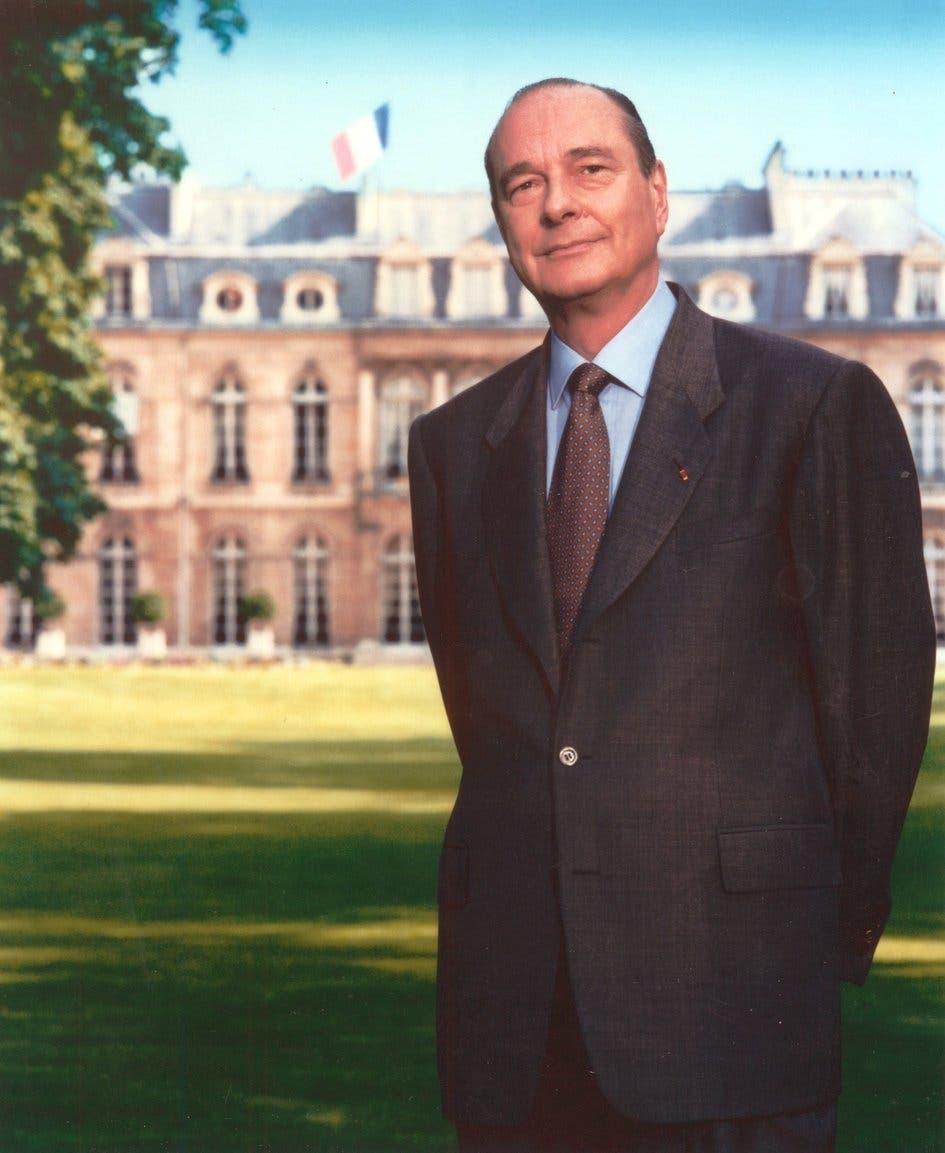 صورة للرئيس الفرنسي جاك شيراك