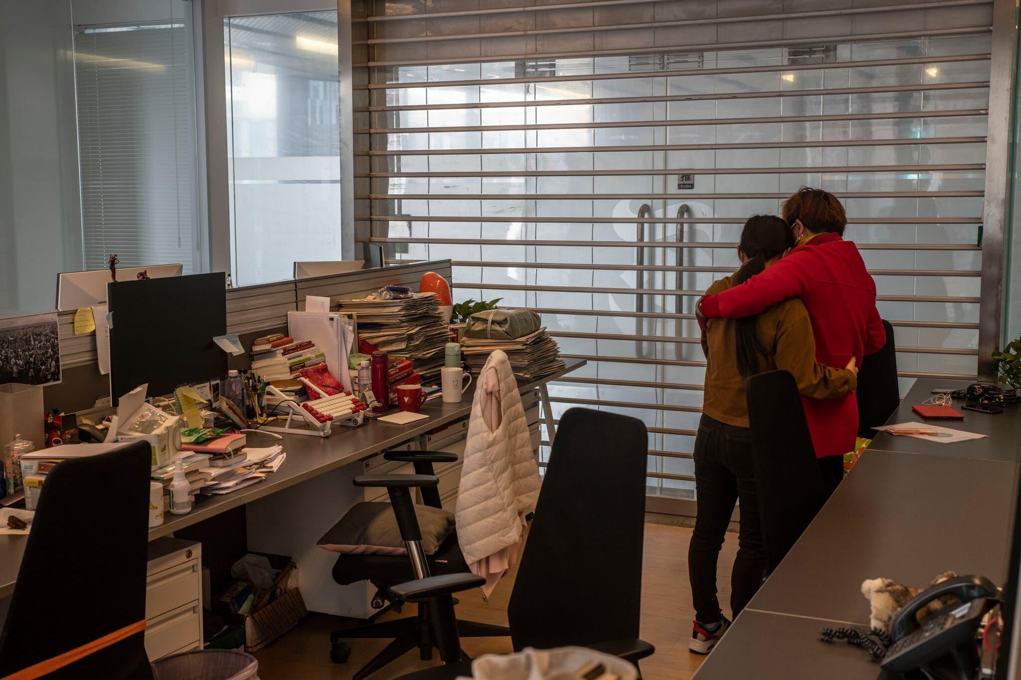 آخر يوم عمل لصحافيي نيويورك تايمز بمكتبهم في بكين في مارس الماضي
