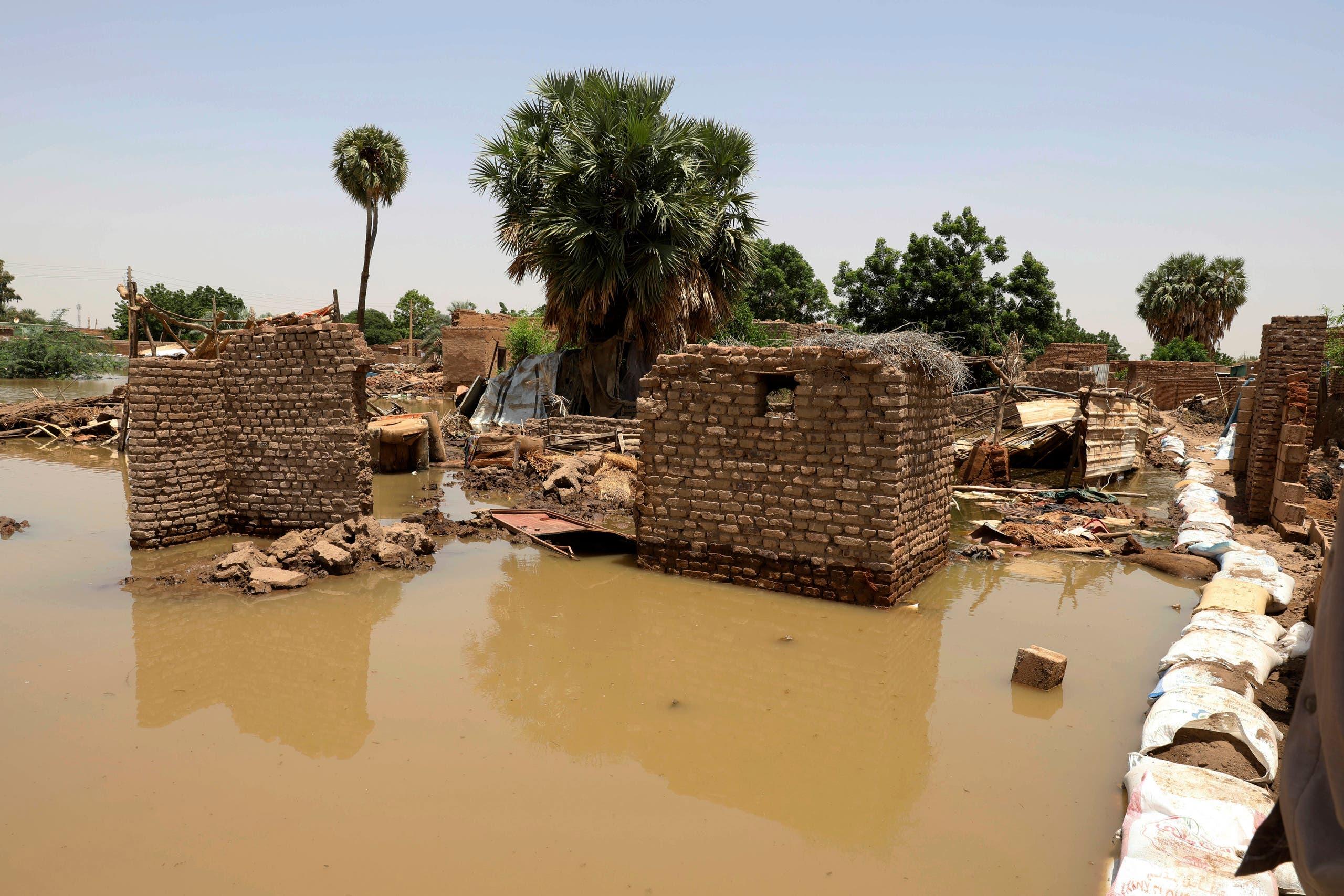 أضرار الفيضانات في الخرطوم