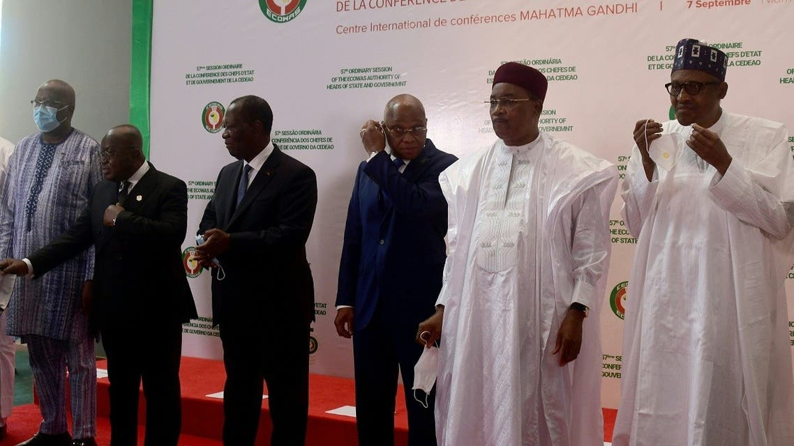 A group photo during an Economic Community of West African States (ECOWAS) leaders summit in Niamey on September 7, 2020. (AFP)
