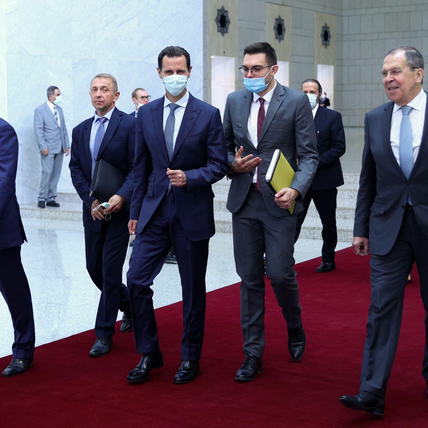 لافروف يلتقي الأسد.. تشديد على إنجاح مشاريع روسية بسوريا