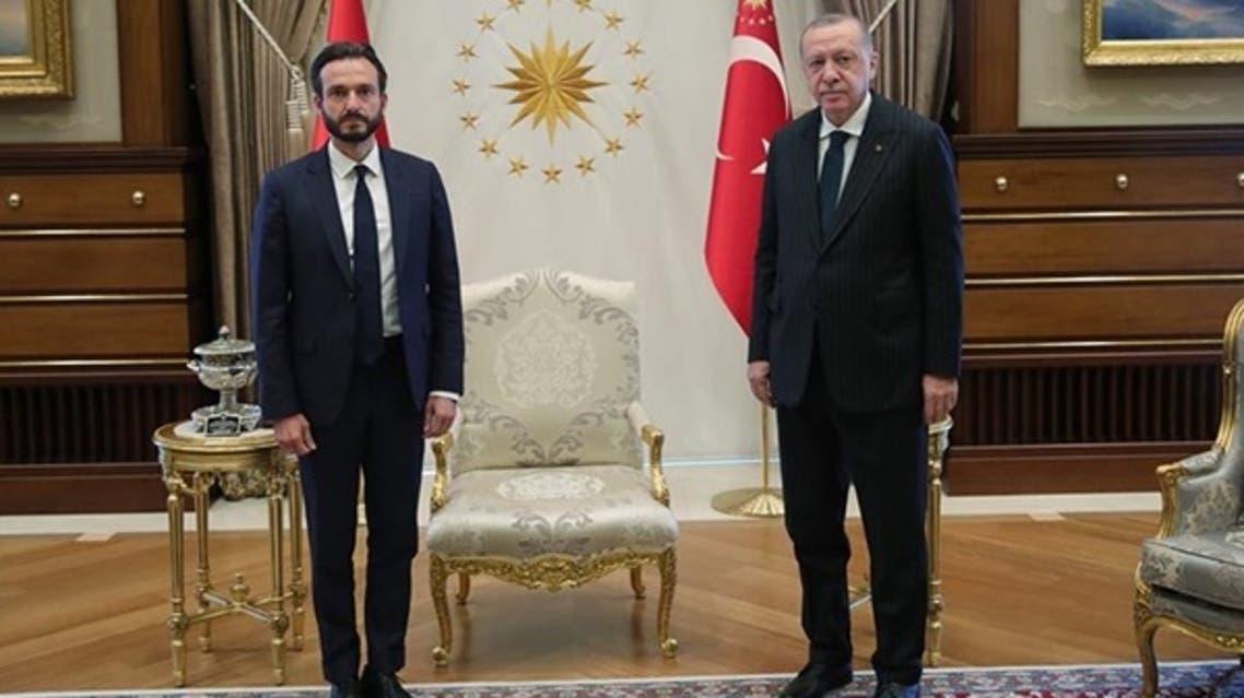 ECHR President Robert Spano, left, with Turkish President Recep Tayyip Erdogan on September 3, 2020. (Courtesy: ECHR)
