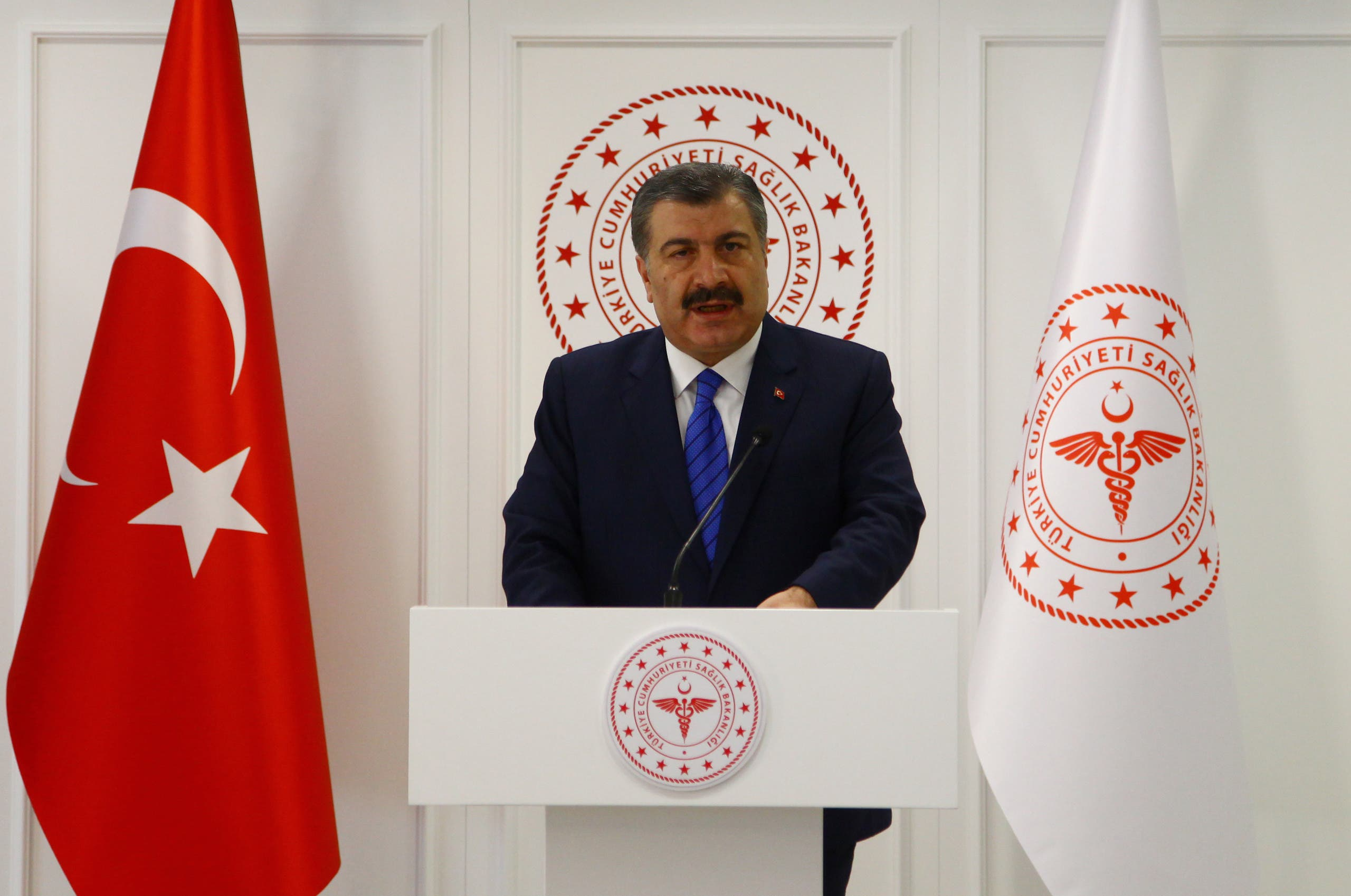 وزير الصحة التركي فخرالدين قوجا