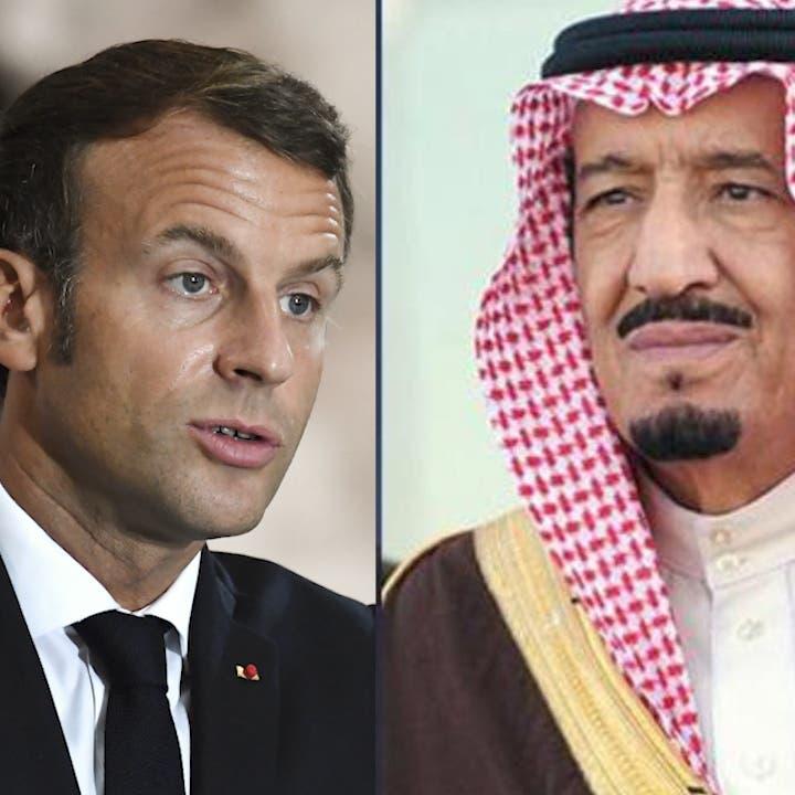 """الملك سلمان والرئيس الفرنسي يستعرضان جهود مجموعة """"العشرين"""""""