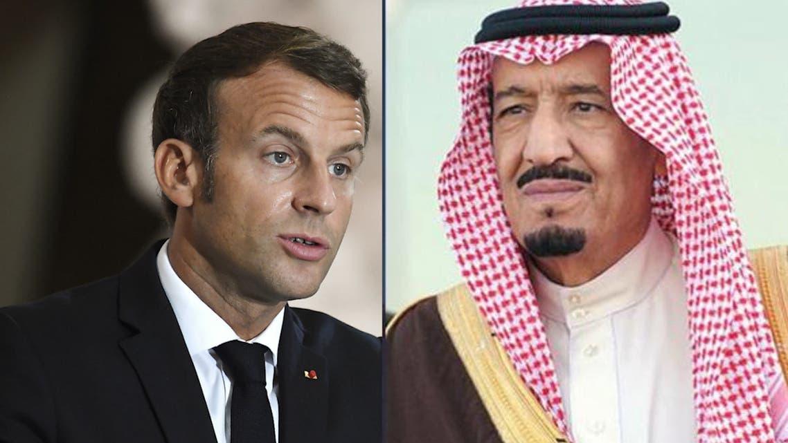 Saudi King Salman and Macron