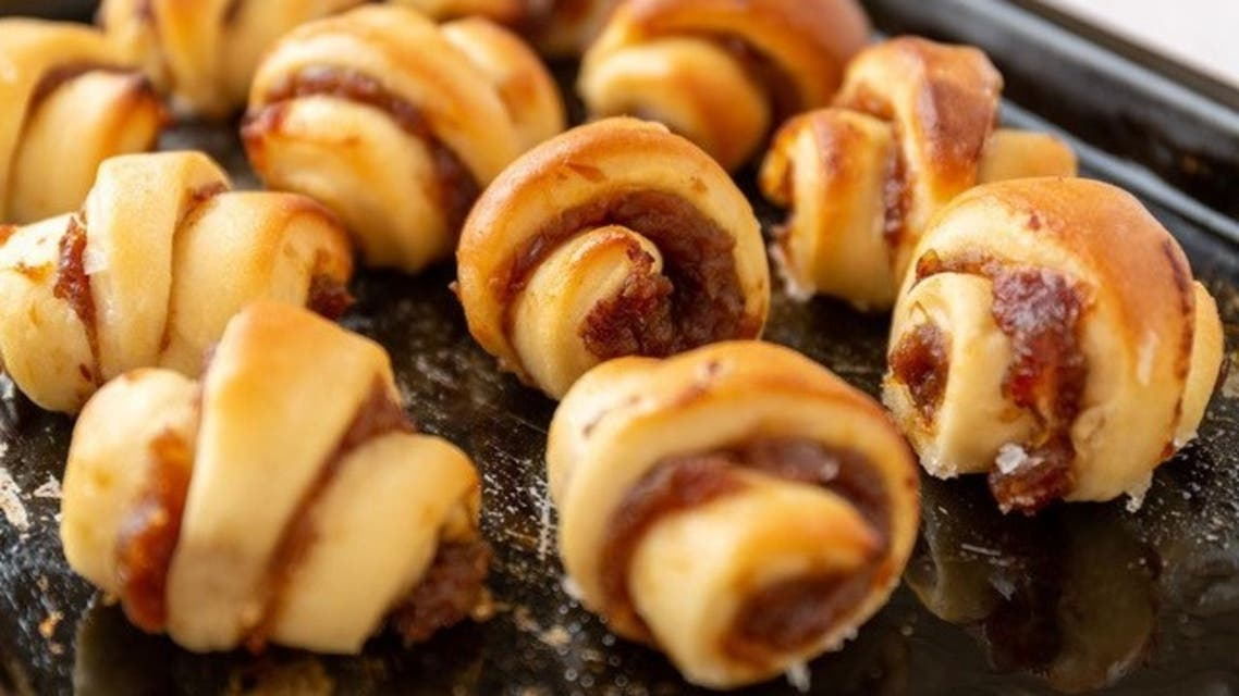 Date, cinnamon and orange blossom water rugelach from Elli's Kosher Kitchen. (Supplied)