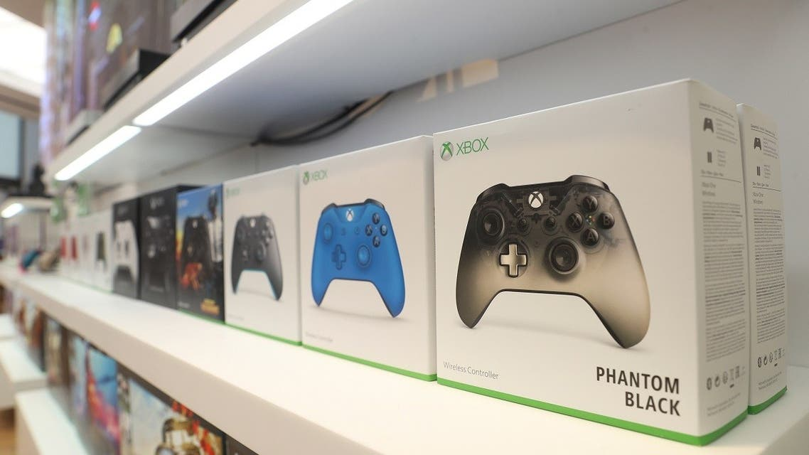 Xbox gaming controllers sit on a display shelf at Microsoft's new Oxford Circus store in London. (Reuters)1095409149_RC1CF7B410B0_RTRMADP_3_MICROSOFT-BRITAIN-STORE