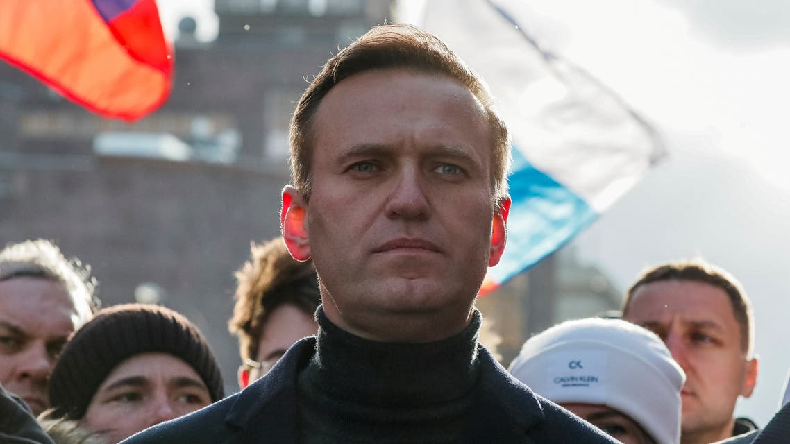 Russian opposition politician Alexei Navalny takes part in a rally to protest against proposed amendments to the country's constitution, in Moscow, Russia, February 29, 2020. (Reuters)