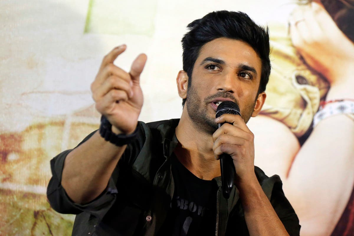 "Bollywood actor Sushant Singh Rajput speaks during a press conference to promote his upcoming movie ""Raabta"" in Ahmadabad, India, on May 30, 2017. (AP)"