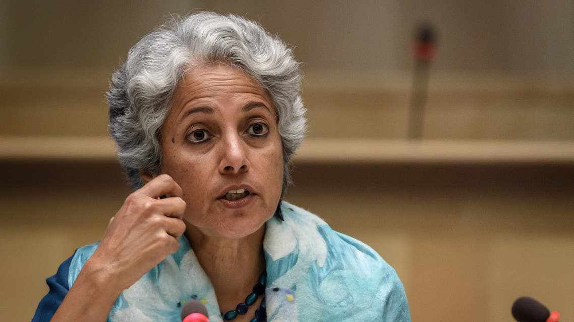 World Health Organization (WHO) Chief Scientist Soumya Swaminathan, July 3, 2020. (AFP)