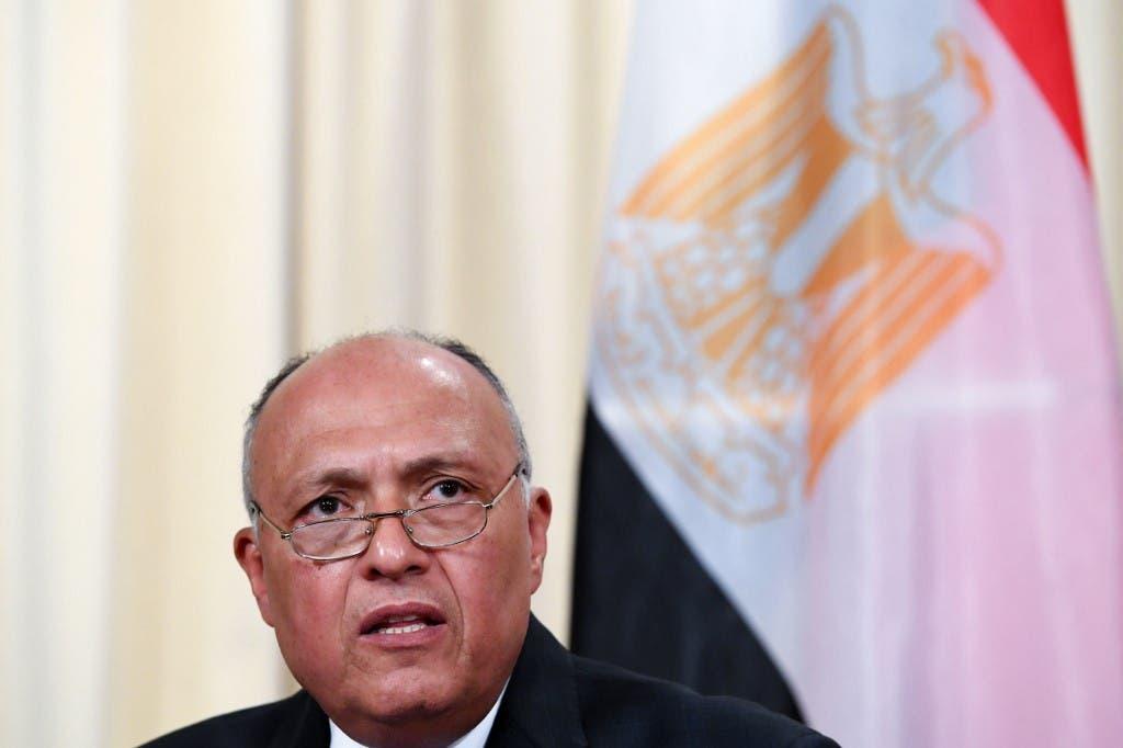 Ministro de Relaciones Exteriores de Egipto, Sameh Shoukry (Archivos)