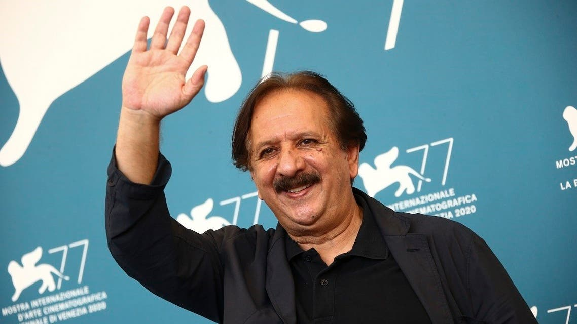 Director Majid Majidi poses for photographers at the photo call for the film 'Khorshid (Sun Children' during the 77th edition of the Venice Film Festival in Venice, Italy, on September6, 2020. (AP)