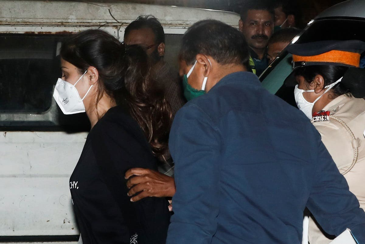 Bollywood actress Rhea Chakraborty arrives at the Narcotics Control Bureau (NCB) after she was arrested in Mumbai, India, September 8, 2020. REUTERS