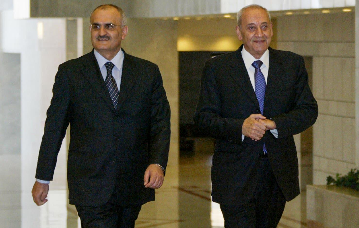 نبيه بري ووزير المالية السابق علي حسن خليل (أرشيفية- فرانس برس)