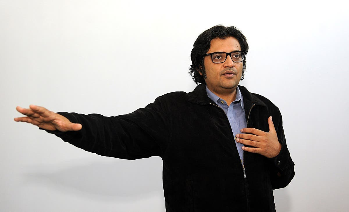 Indian television journalist Arnab Goswami poses during an interview with AFP in Mumbai. (AFP)