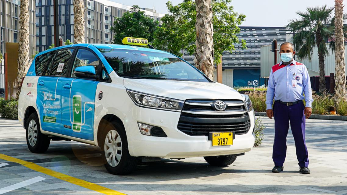 A Dubai van taxi from Hala. (Supplied)