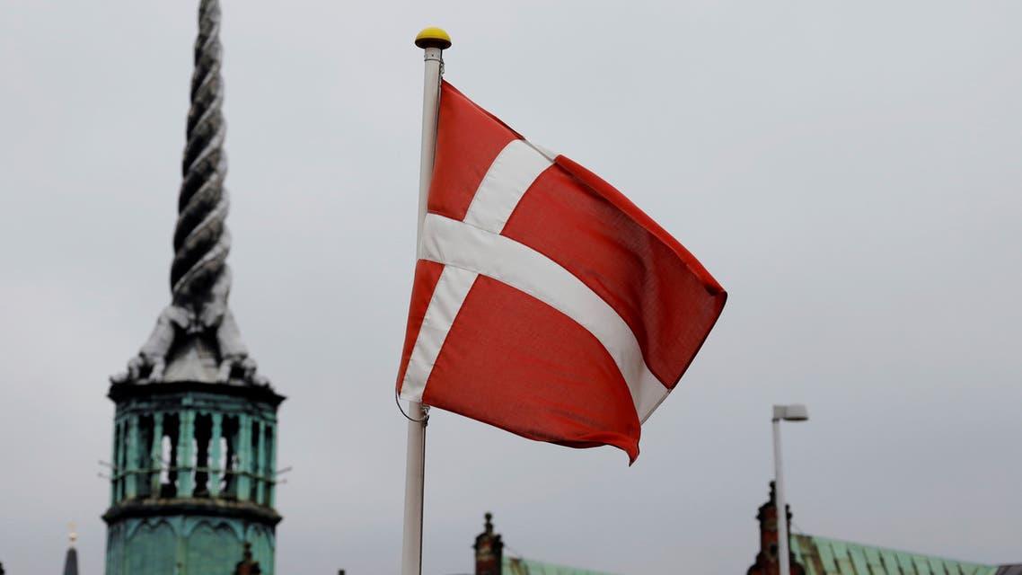 A Denmark's national flag flutters in Copenhagen, Denmark, October 22, 2019. (Reuters)