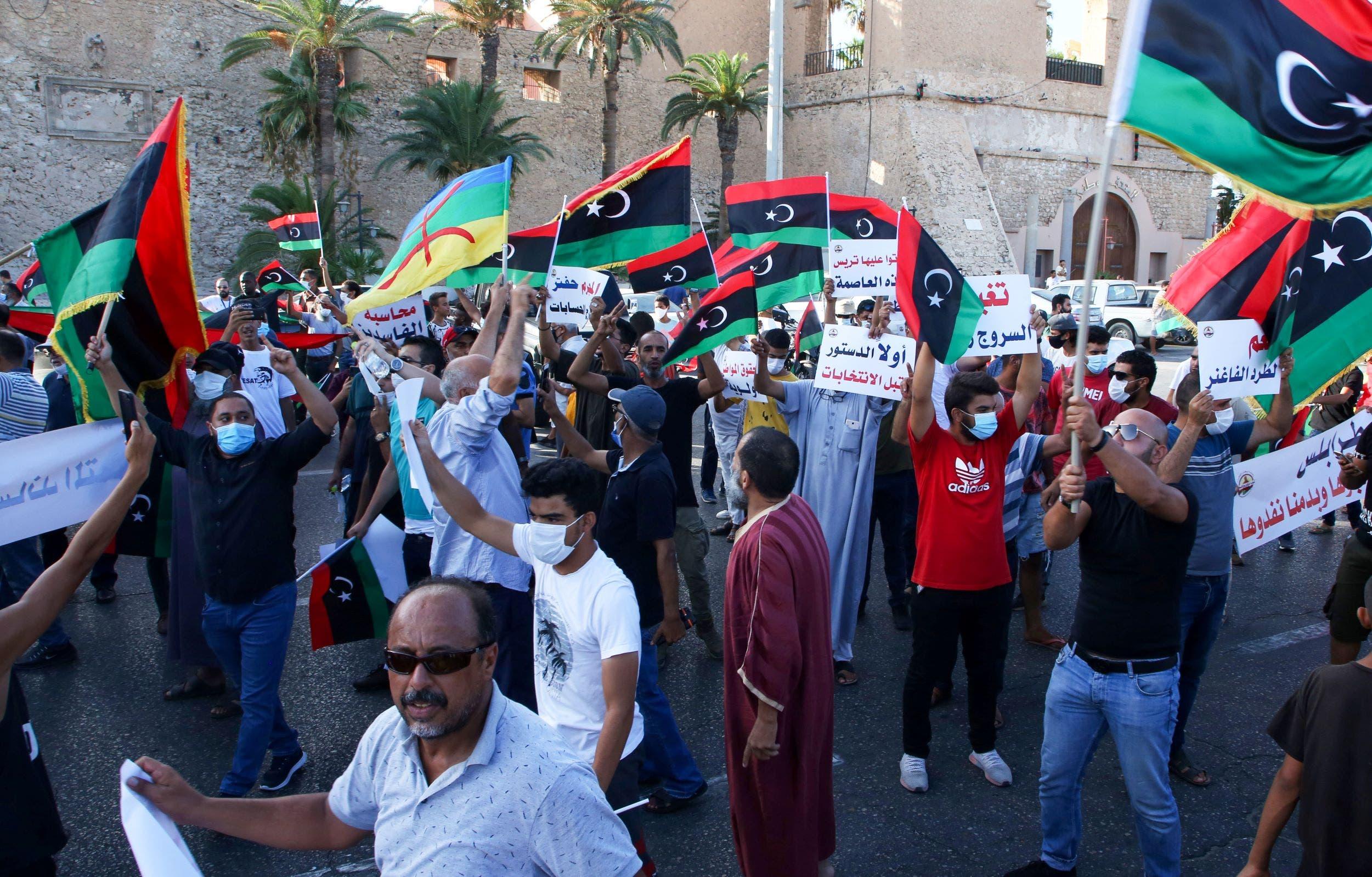 من مظاهرات طرابلس (أرشيفية)