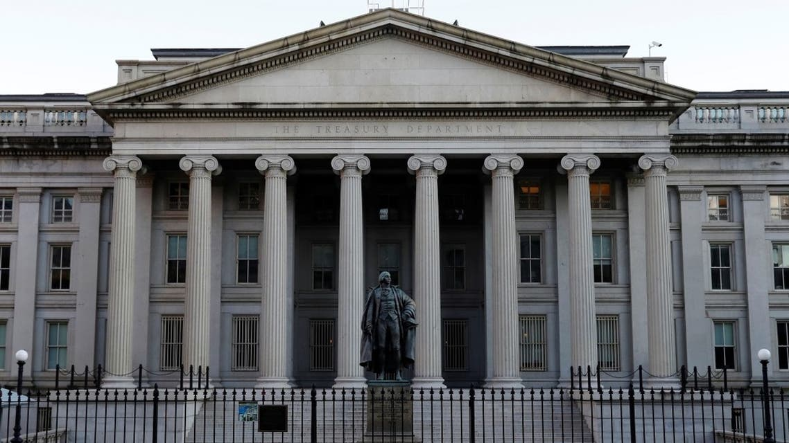 The United States Department of the Treasury is seen in Washington, DC, Aug. 30, 2020. (Reuters)