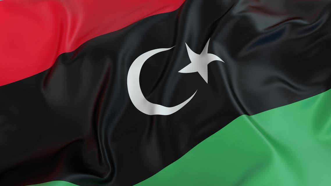 Libya Flag stock photo