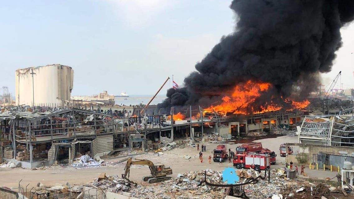 من حريق مرفأ بيروت