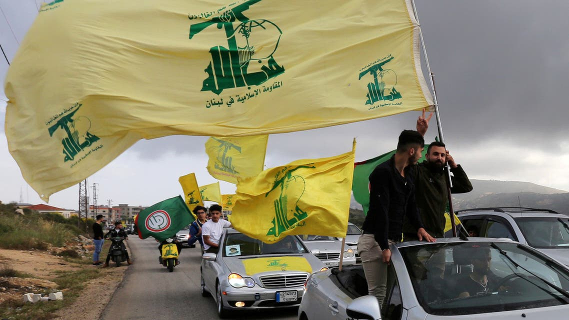 A supporter of Lebanon's Hezbollah gestures as he holds a Hezbollah flag in Marjayoun, Lebanon, May 7, 2018. (File photo: Reuters)