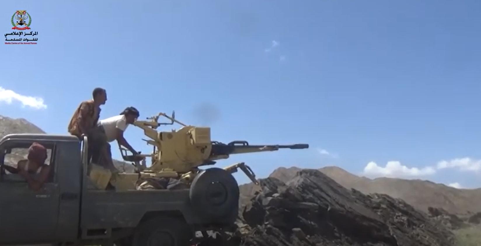 من القتال في جبهة ماهلية جنوب محافظة مأرب (أرشيفية)