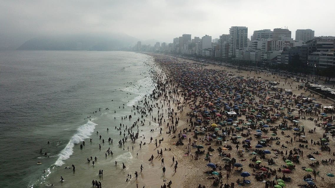 People visit Ipanema beach, amid the coronavirus disease (COVID-19) outbreak, in Rio de Janeiro, Brazil. (Reuters)