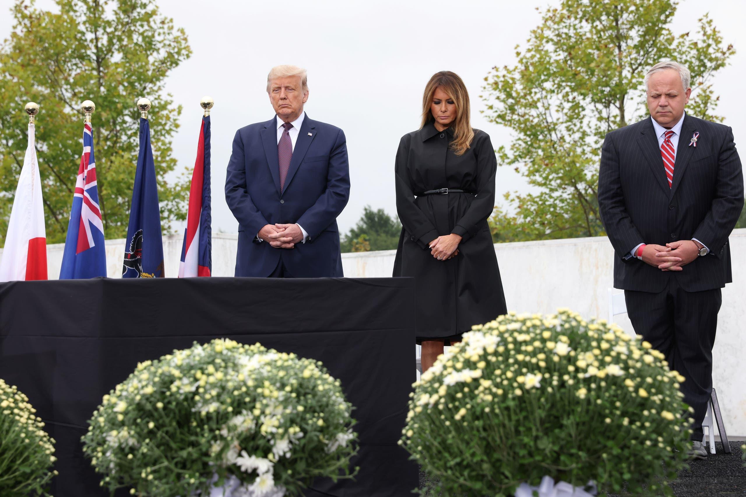 ترمب شارك أمس في بنسلفينيا في إحيائ ذكرى الضحايا