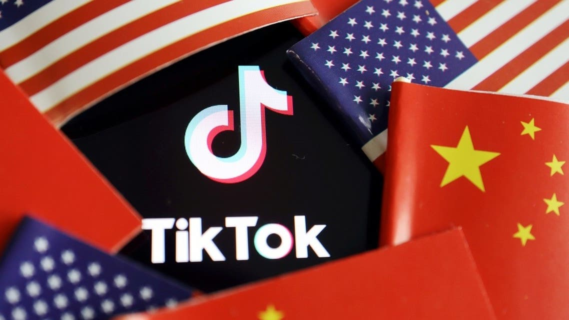 US and China flags are seen near a TikTok logo in this illustration. (File Photo: Reuters)