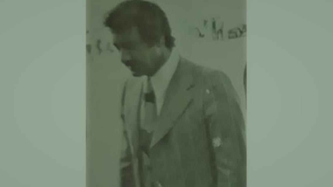 محمد مخلوف في صورة يعود تاريخها إلى سبعينيات القرن الماضي
