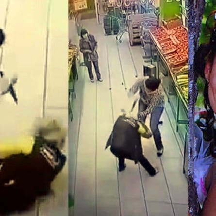 شاهد ملكة جمال وهي تنهال طعناً بالسكين على بائعة في متجر