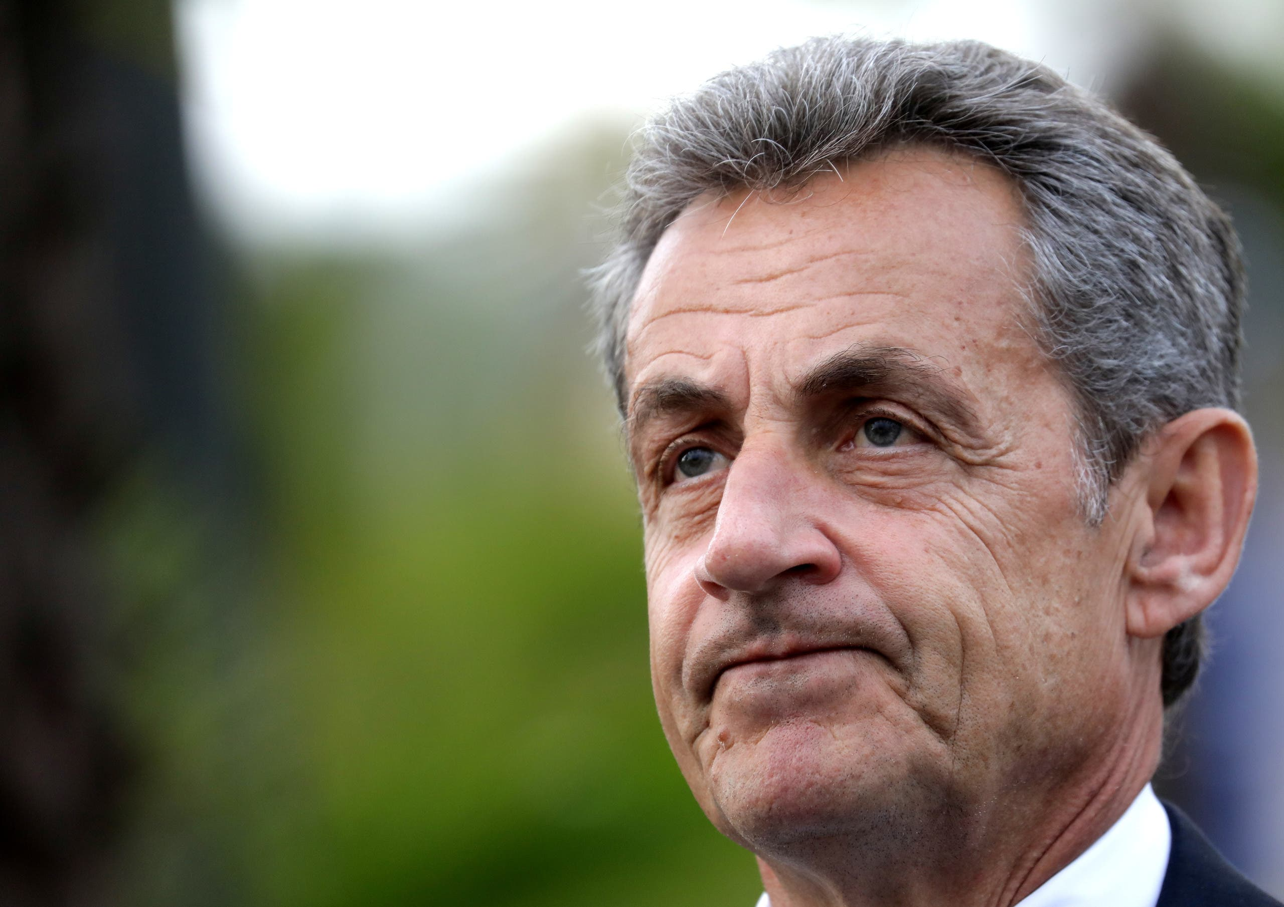 Former French President Nicolas Sarkozy is pictured during a visit in Nice, France, January 13, 2020. (Reuters)