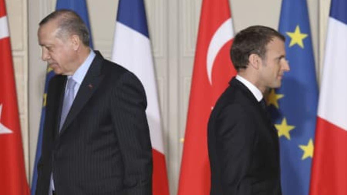 مکرون و اردوغان