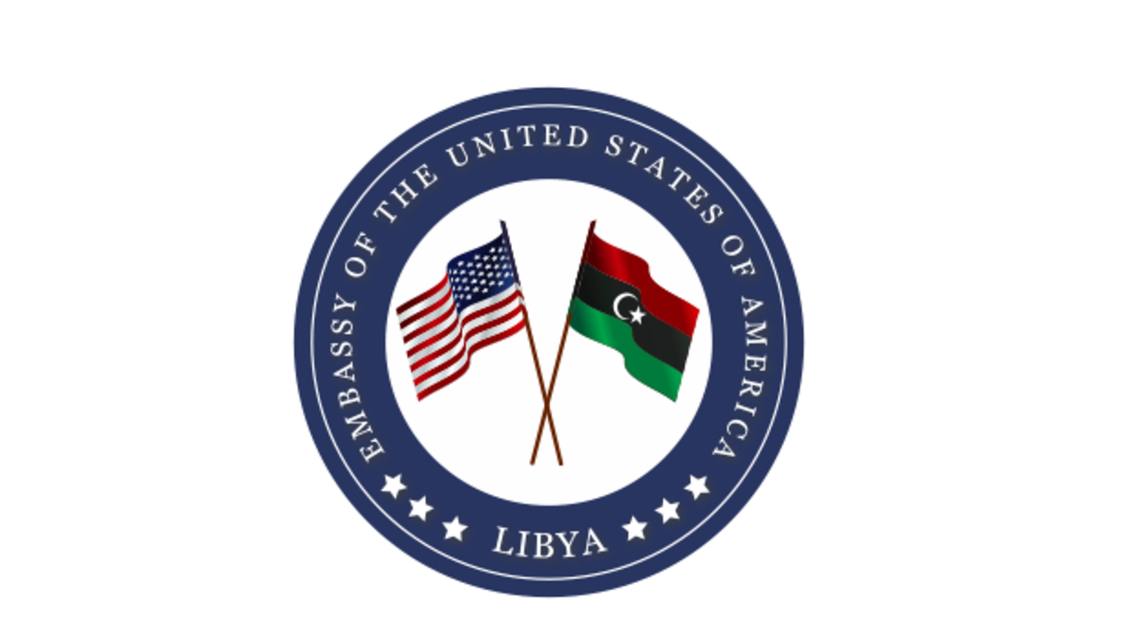 شعار السفارة الأميركية في ليبيا