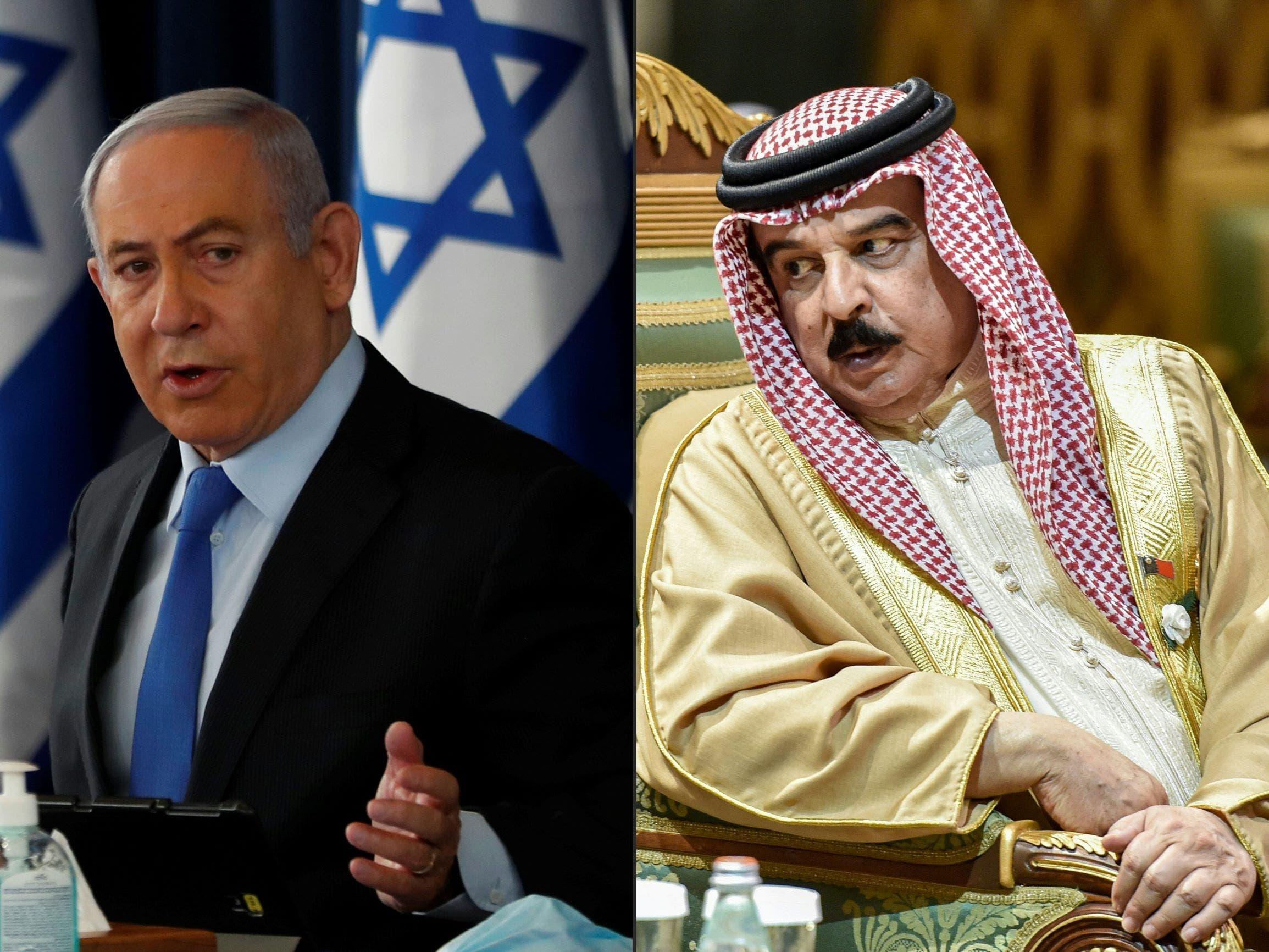 ملك البحرين ونتنياهو