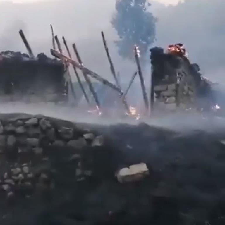 مشاهد صادمة.. كيف تحولت قريتان كرديتان بعد قصف تركي؟