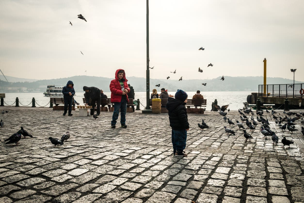 من وسط مدينة اسطنبول