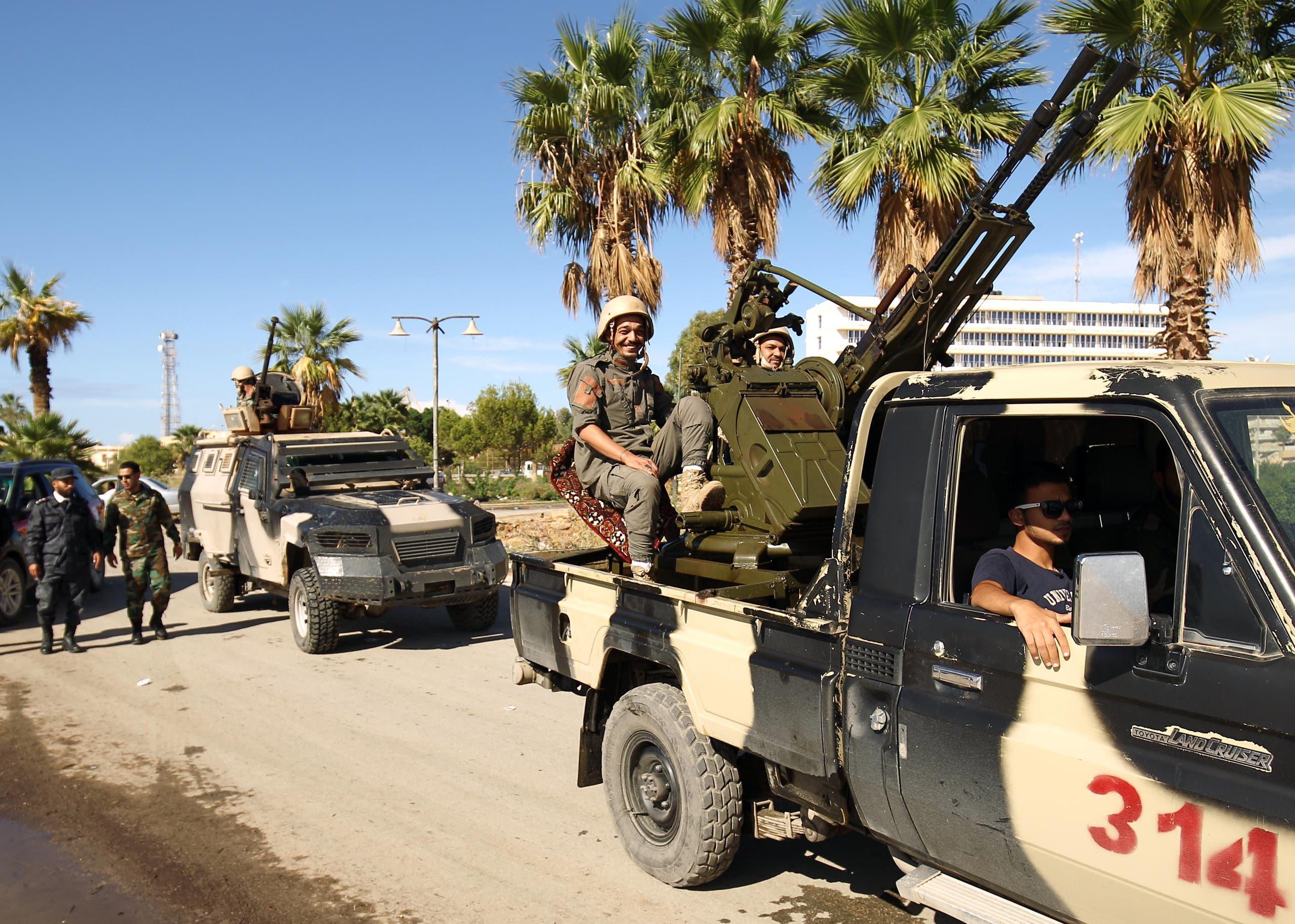 عناصر من الجيش الليبي (أرشيفغية- فرانس برس)