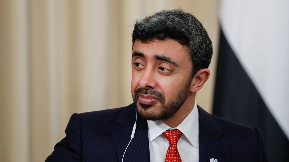 United Arab Emirates Foreign Minister Sheikh Abdullah bin Zayed Al Nahyan attends a news conference in Moscow, Russia. (File photo: Reuters)
