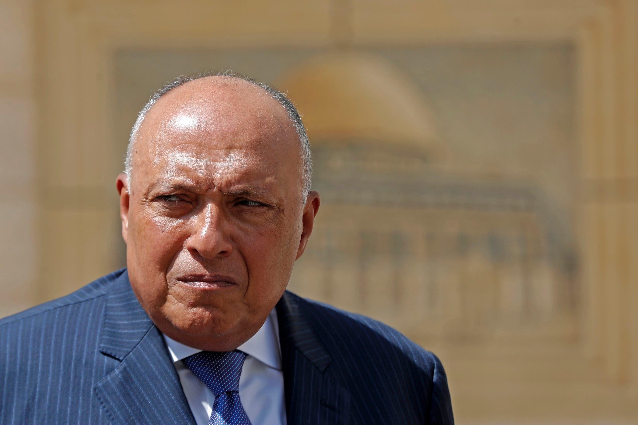 وزير الخارجية المصري سامح شكري (أرشيفية- فرانس برس)