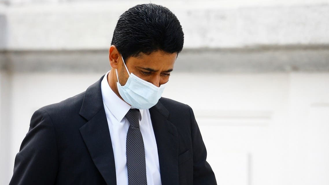 Chairman of Qatar-based media group BeIN Sports, Nasser Al-Khelaifi arrives in front of the Swiss Federal Criminal Court. (Reuters)
