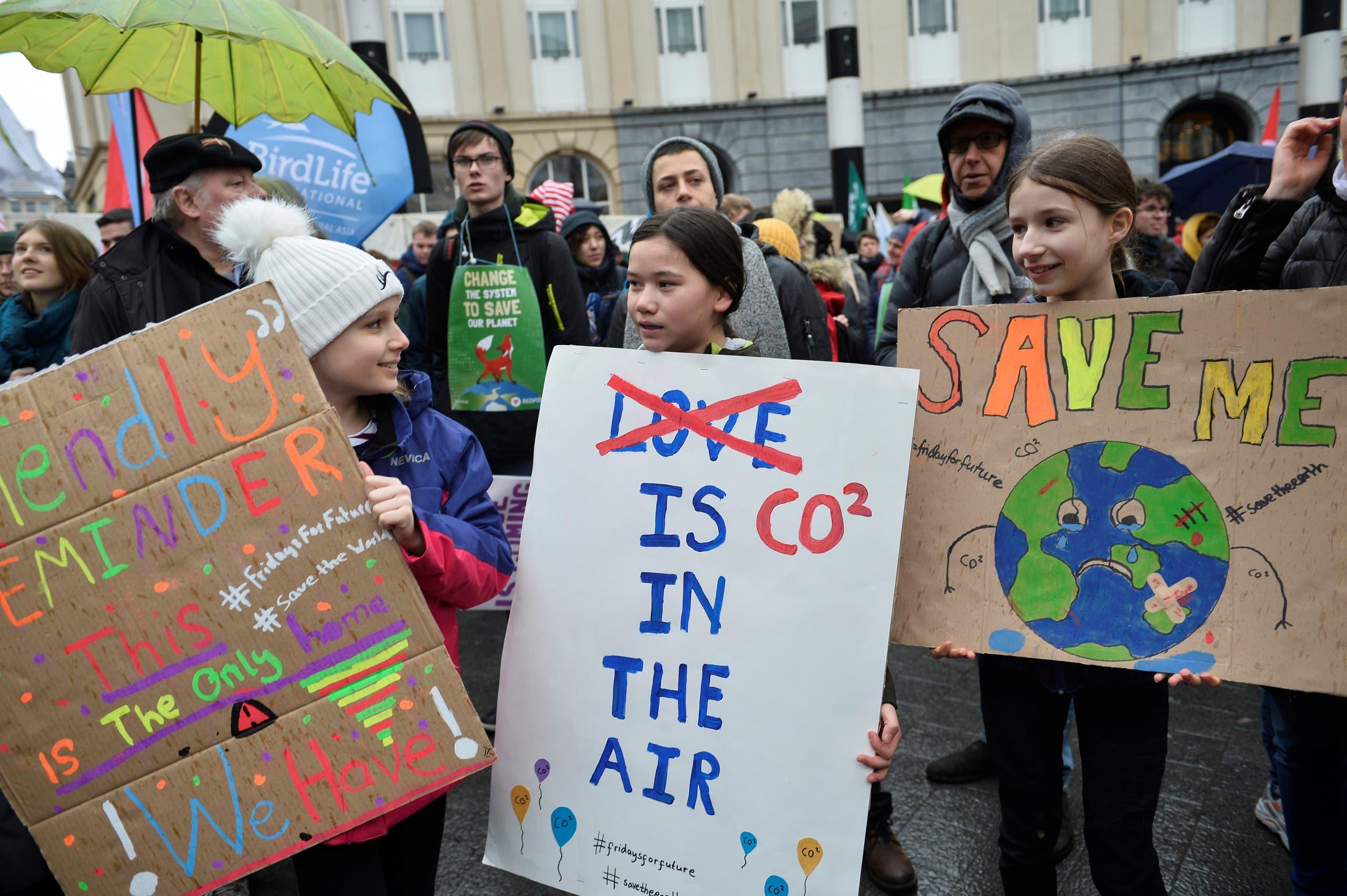 Climate activist Greta Thunberg on a protest. (Reuters)