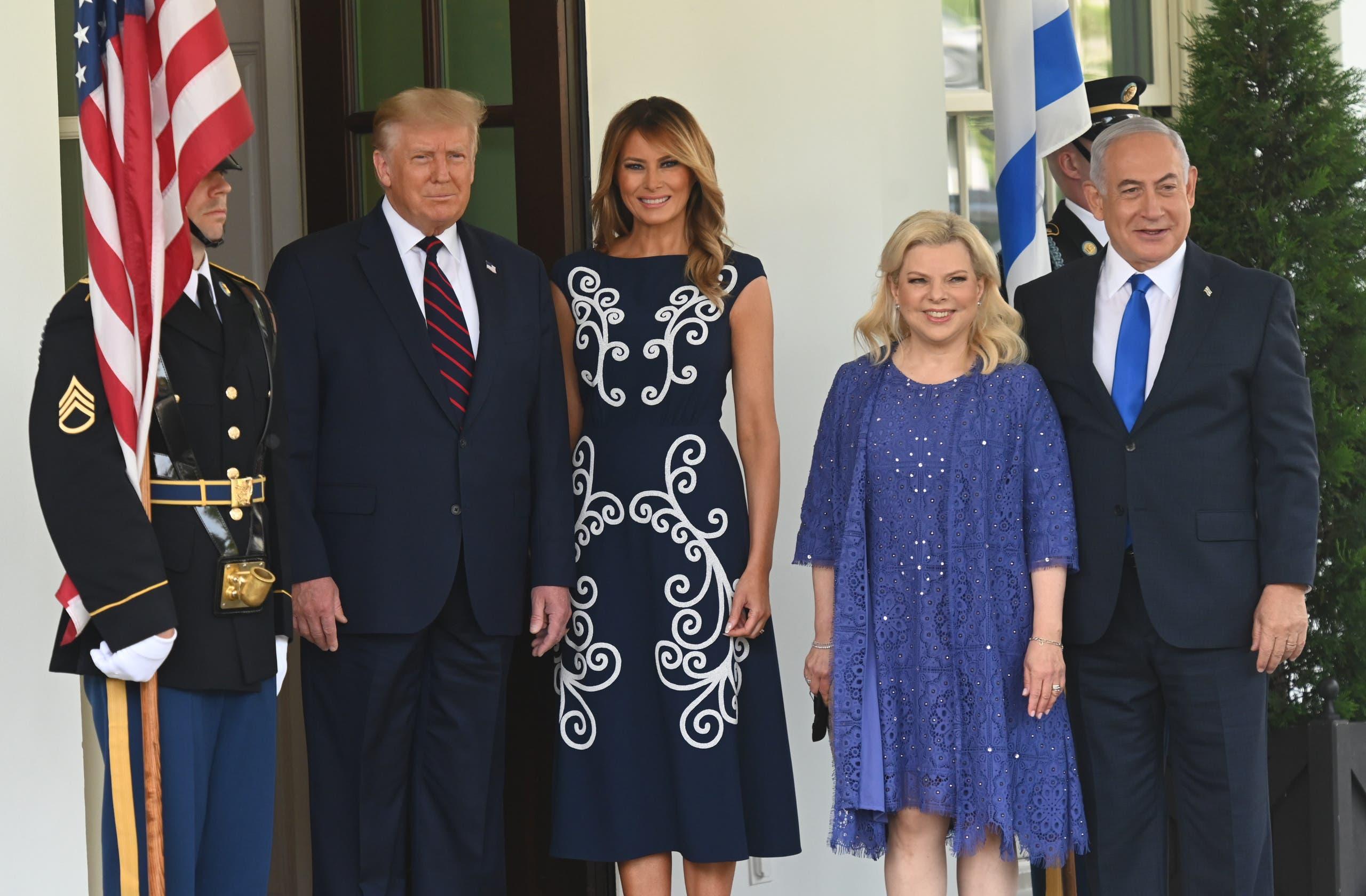 ترمب وزوجته ونتنياهو وزوجته