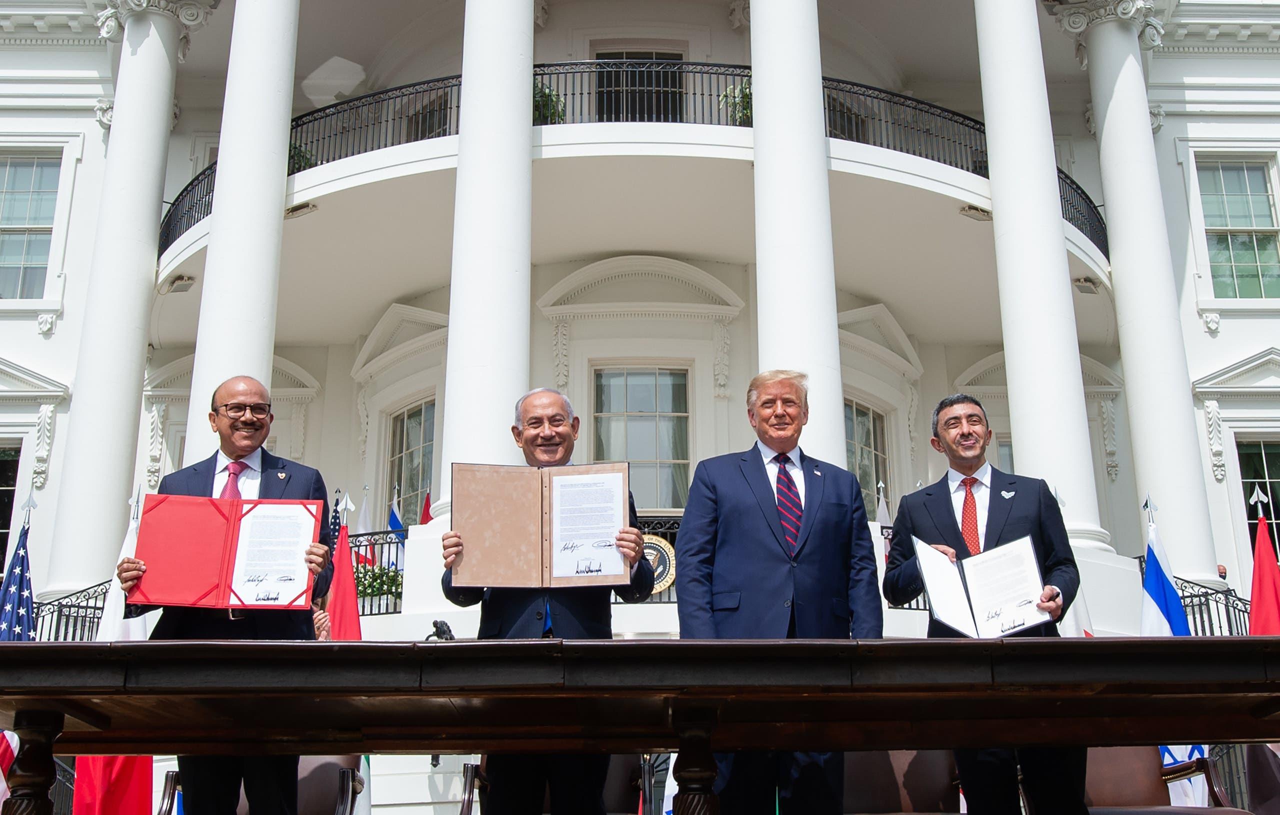 جانب من توقيع اتفاق سلام بين إسرائيل والإمارت والبحرين - أرشيفية